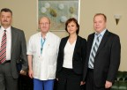 Na zdjęciu odlewej: drSergiu Vetricean, Prof.Henryk Skarżyński, Angelina Chiaburu, drLuxcian Danilov