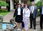 Od lewej: Angelina Chiaburu,dr hab. Wiesław Jędrzejczak, Kinga Wołujewicz, drLuxcian Danilov, drSergiu Vetricean