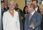 Pierwsza Dama Republiki Estońskiej Evelin Ilves iprof.Henryk Skarżyński