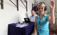 Festiwal Nauki w Jabłonnie - badanie słuchu