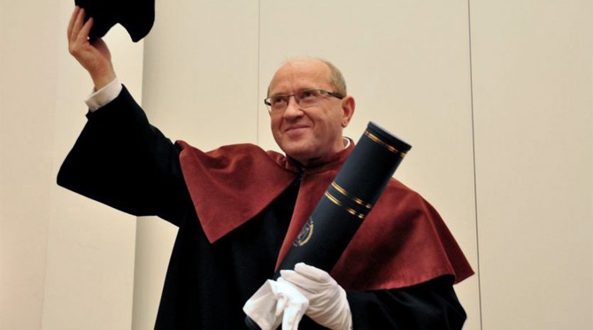 Professor Henryk Skarżyński awarded an honorary degree of honoris causa of the Maria Curie Skłodowska University in Lublin
