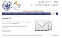 Lubelskie Dni Otolaryngologii - strona www