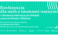 Logotyp Konferencja dla pacjentów z szumami usznymi i obniżoną tolerancją na dźwięki oraz ich Rodzin i Bliskich